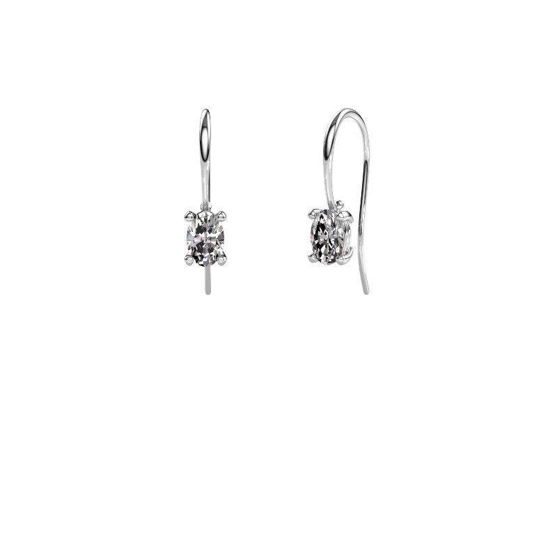 Drop earrings Cleo 950 platinum lab-grown diamond 1.00 crt
