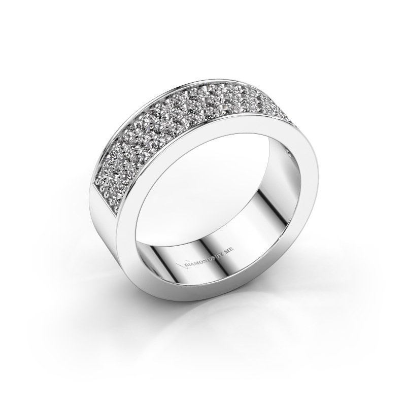 Ring Lindsey 6 585 witgoud zirkonia 1.7 mm
