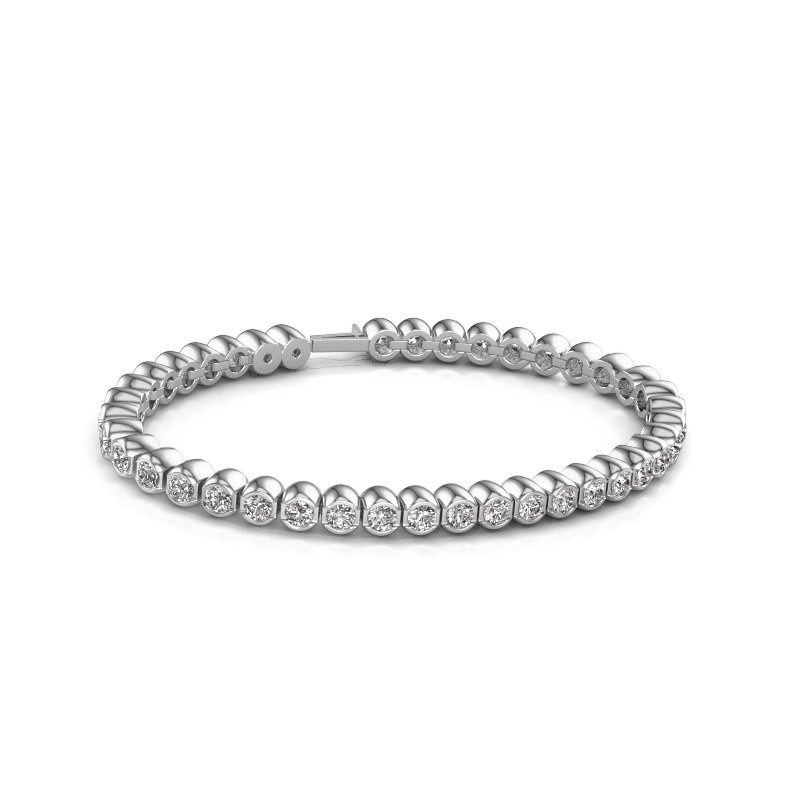 Tennisarmband Mellisa 585 witgoud diamant 7.200 crt