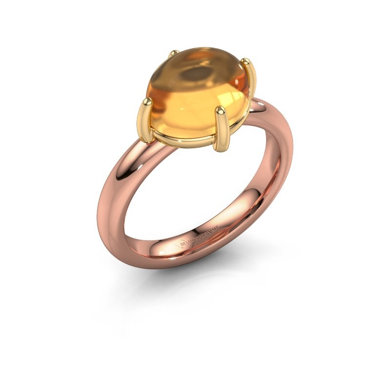 Ring Melodee 585 rose gold citrin 10x8 mm