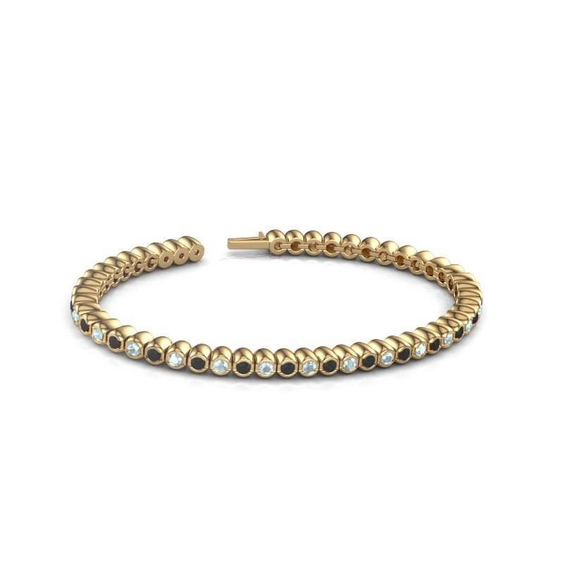 Tennisarmband Patrica 375 goud zwarte diamant 3.025 crt