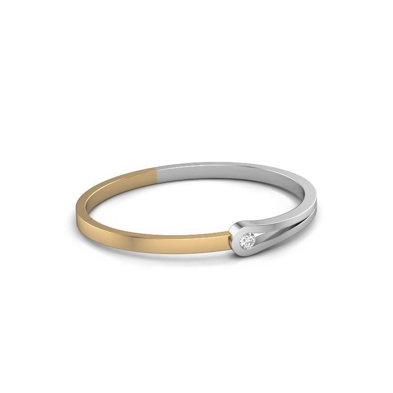Slavenarmband Kiki 585 witgoud diamant 0.30 crt