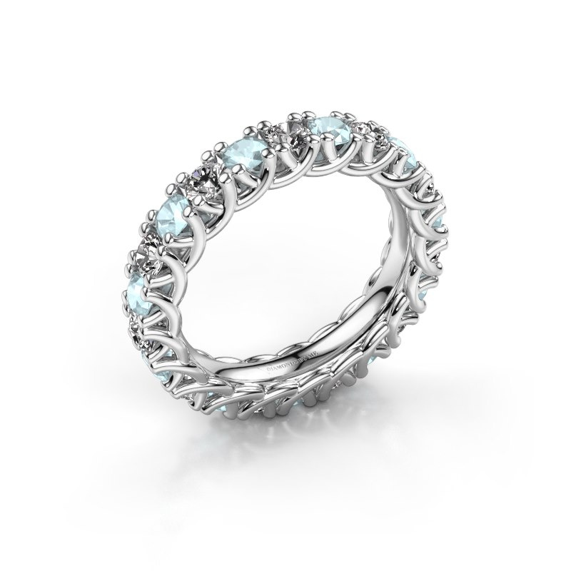 Ring Fenna 585 witgoud zirkonia 3 mm