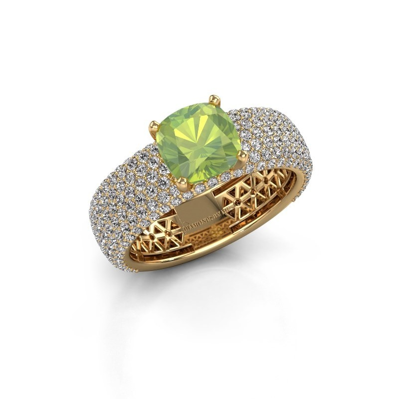 Engagement ring Darcy 375 gold peridot 7 mm