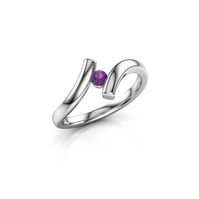 Ring Amy 925 zilver amethist 3 mm