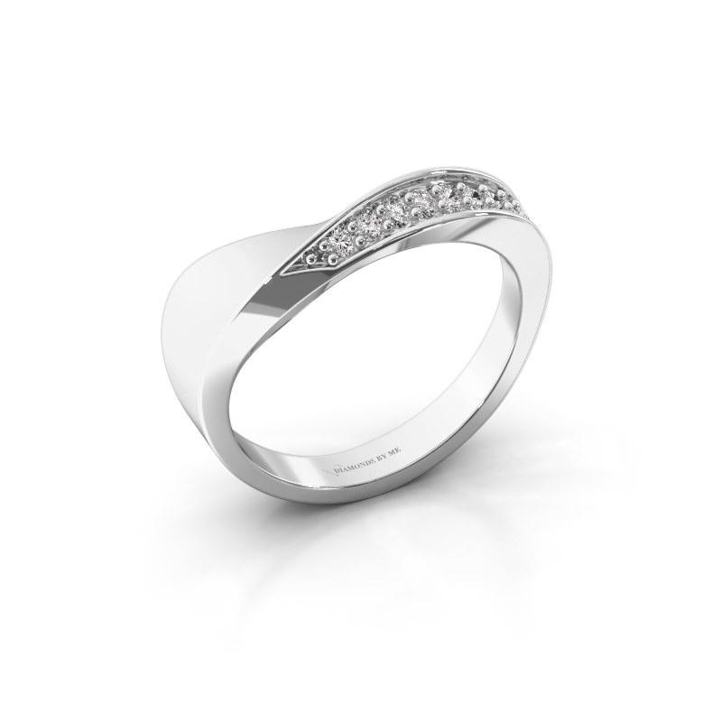 Ring Lynn 585 witgoud zirkonia 1.6 mm