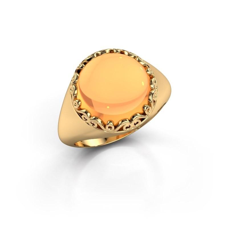 Ring Birgit 585 goud citrien 12 mm