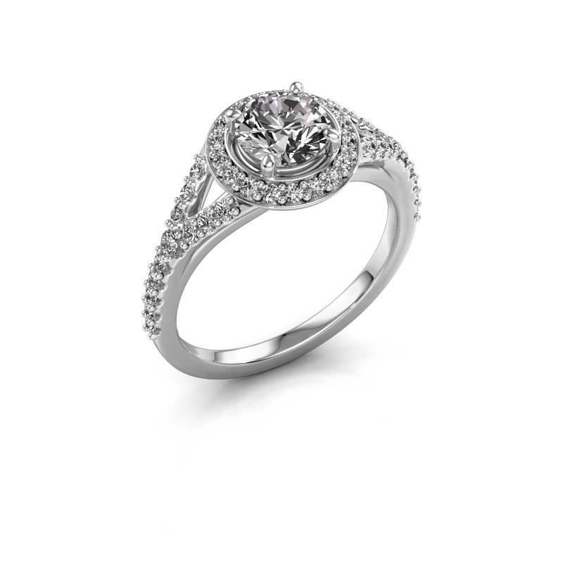 Verlobungsring Pamela RND 585 Weißgold Diamant 1.44 crt