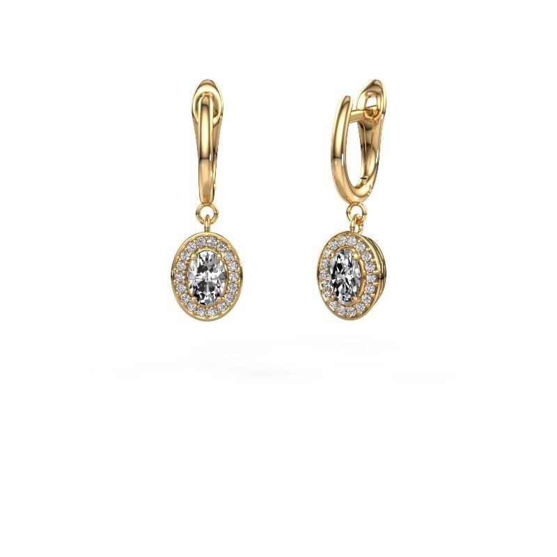 Drop earrings Nakita 375 gold diamond 1.241 crt
