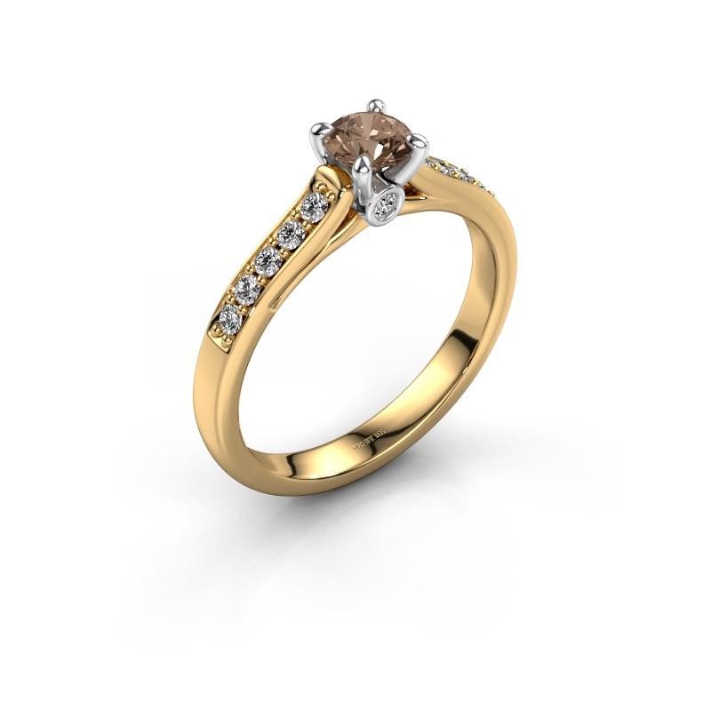 Verlobungsring{ucf Valorie 2 585 Gold Braun Diamant 0.40 crt