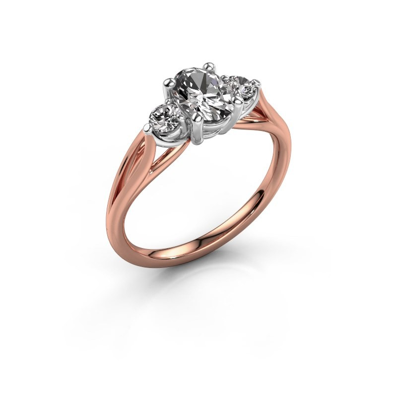 Verlovingsring Amie OVL 585 rosé goud lab-grown diamant 1.00 crt