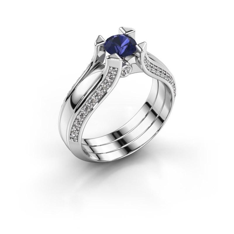 Engagement ring Nadine 585 white gold sapphire 5 mm