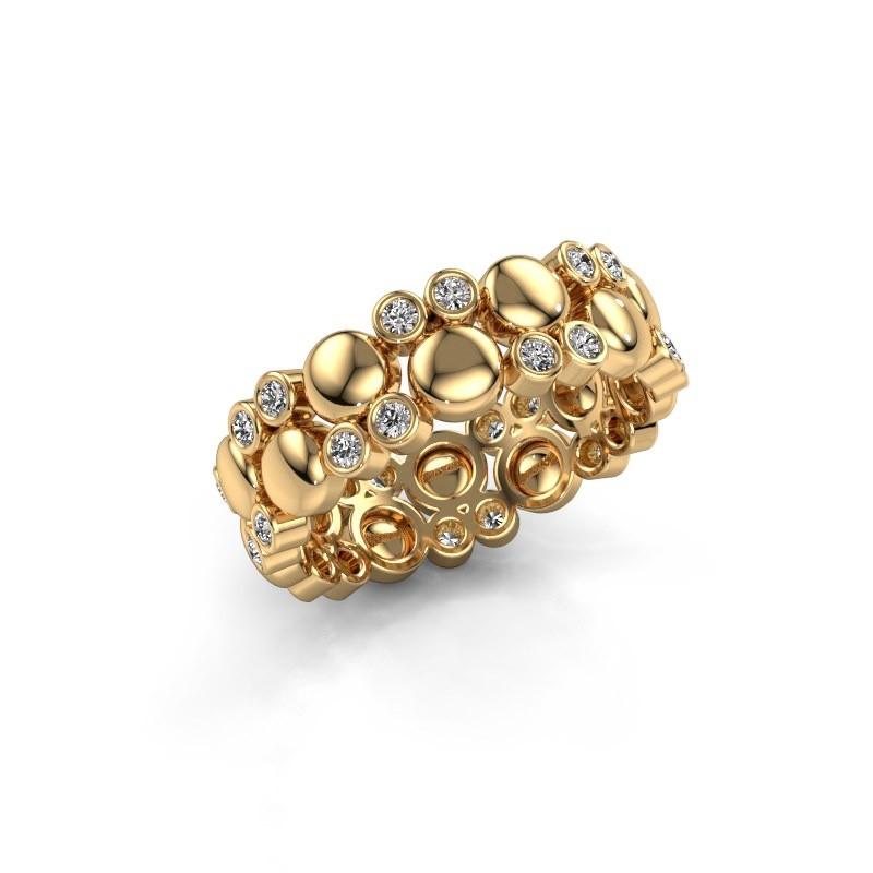 Ring Joanne 585 goud diamant 0.336 crt