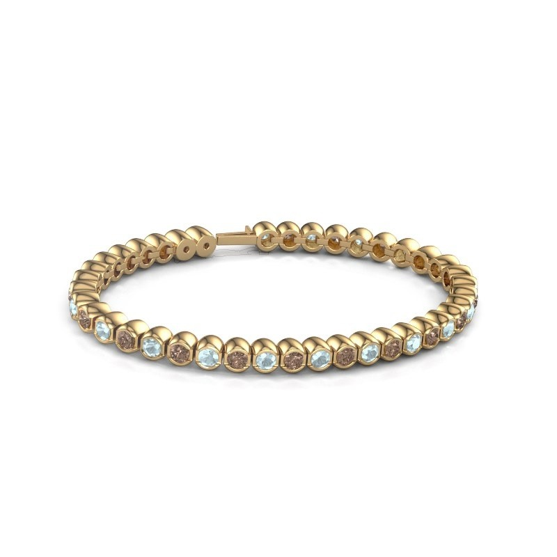 Tennisarmband Mellisa 375 goud bruine diamant 7.200 crt
