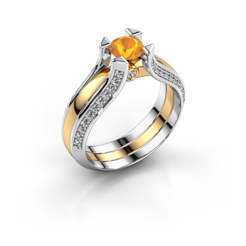 Verlobungsring Nadine 585 Gold Citrin 5 mm