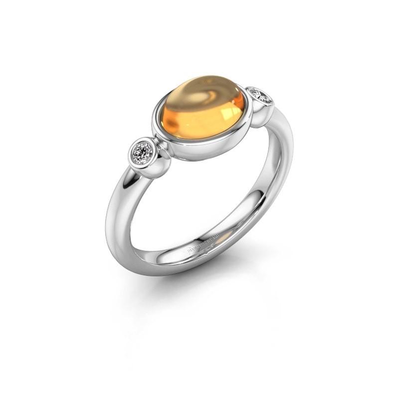 Ring Liane 925 silver citrin 8x6 mm