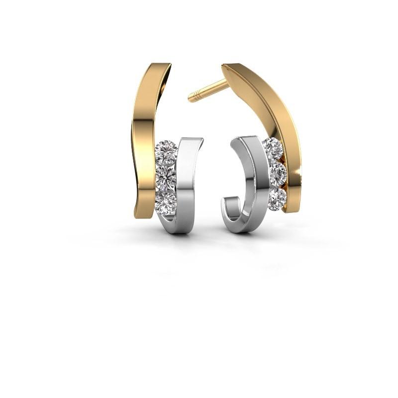 Oorbellen Juliette 585 goud diamant 0.330 crt