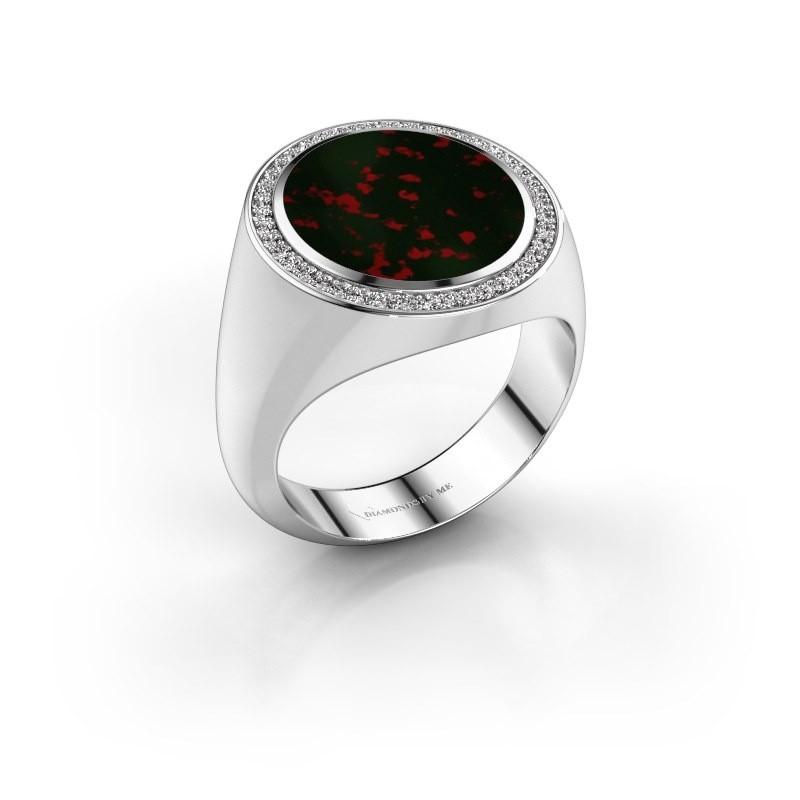 Signet ring Adam 5 950 platinum bloodstone 15x13 mm