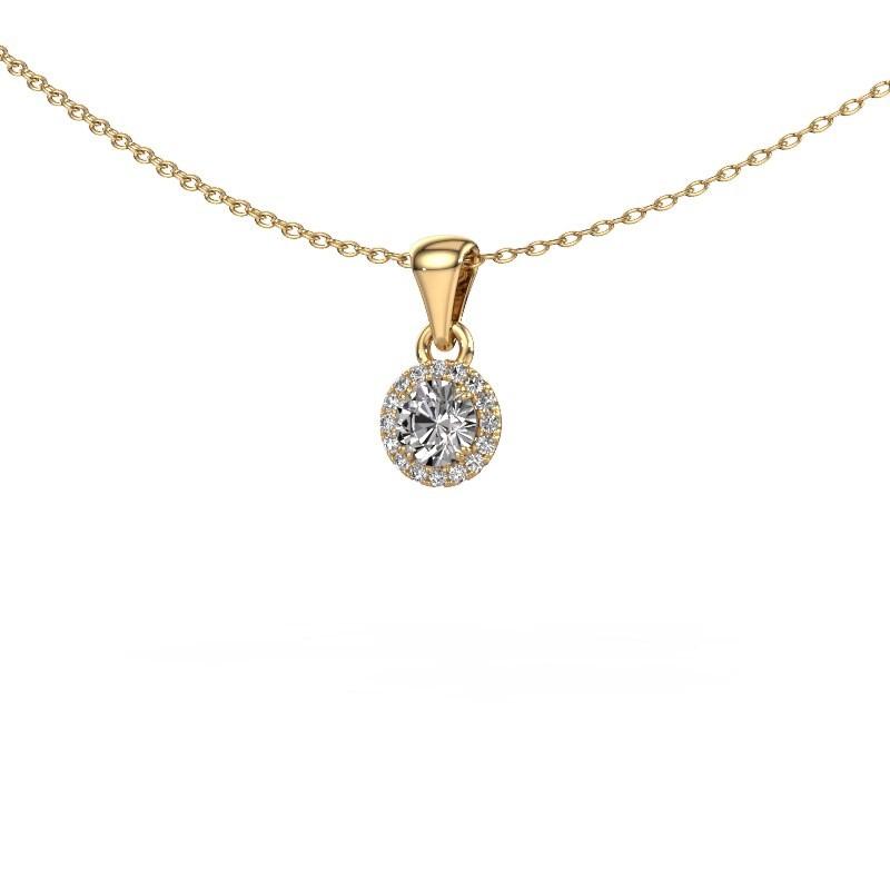Hanger Seline rnd 375 goud diamant 0.38 crt