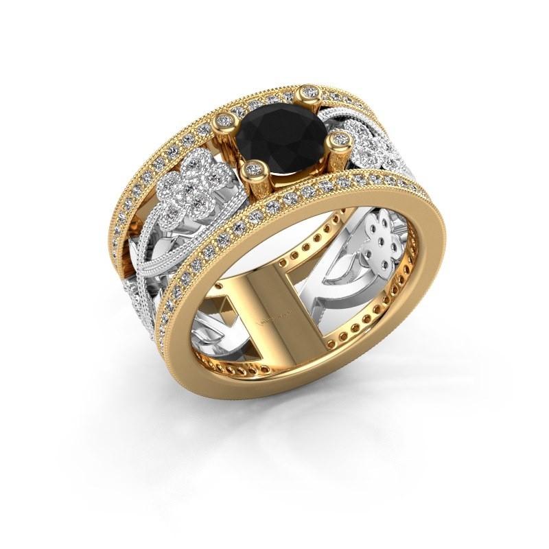 Ring Severine 585 goud zwarte diamant 1.565 crt