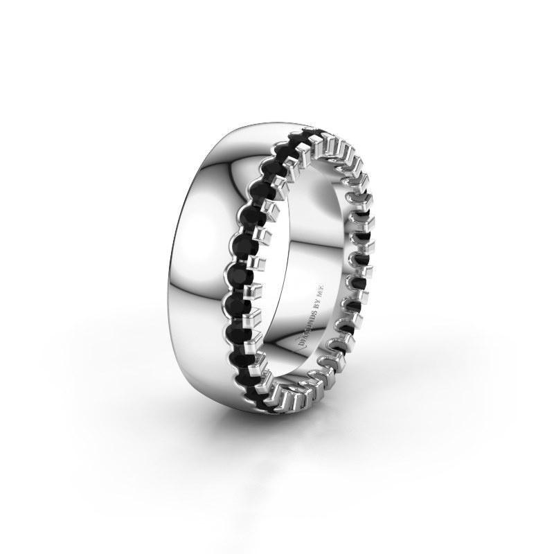 Ehering WH6120L27C 585 Weißgold Schwarz Diamant ±7x2.2 mm