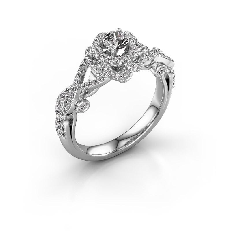 Verlovingsring Cathryn 585 witgoud diamant 0.864 crt
