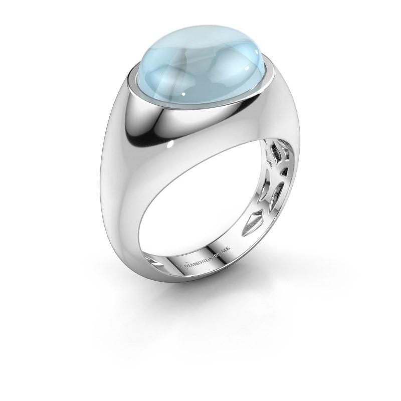 Ring Laurien 925 zilver aquamarijn 12x10 mm