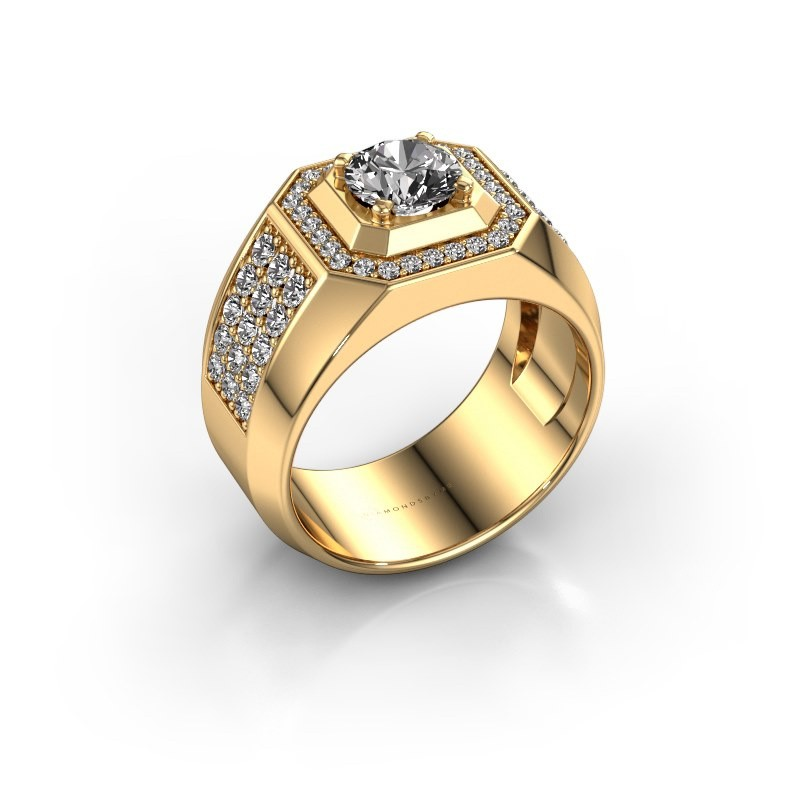 Heren ring Pavan 375 goud diamant 1.918 crt