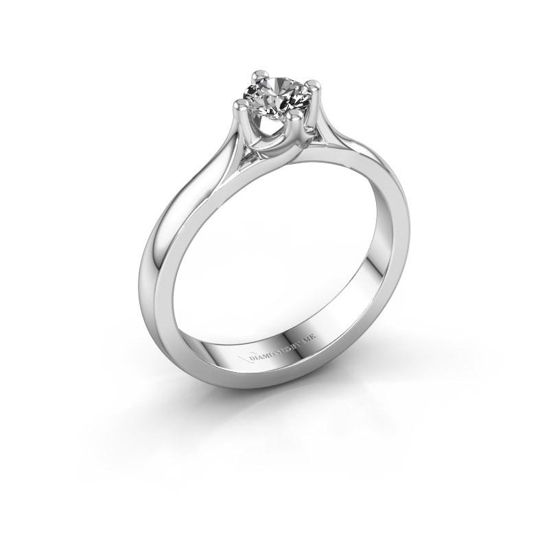 Verlovingsring Eva 925 zilver diamant 0.30 crt