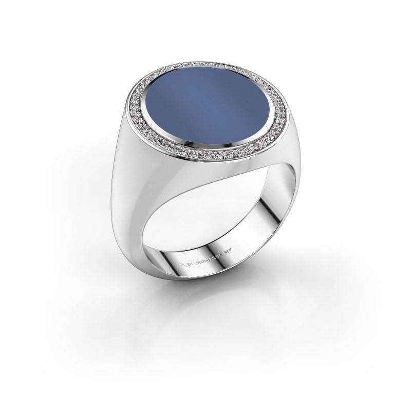 Signet ring Adam 5 950 platinum blue sardonyx 15x13 mm