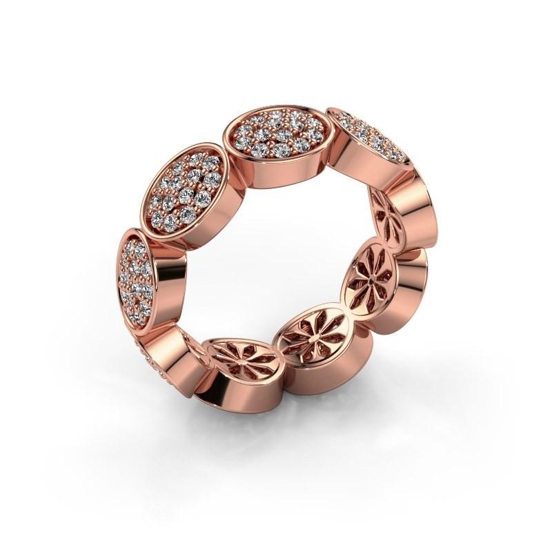 Ring Robin 375 rosé goud diamant 0.945 crt