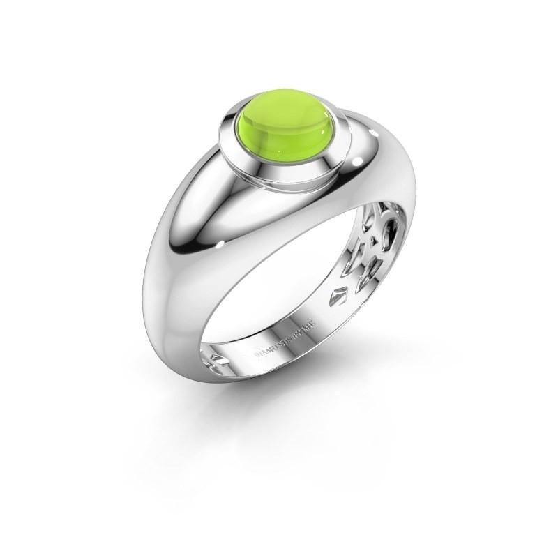 Ring Sharika 585 witgoud peridoot 6 mm