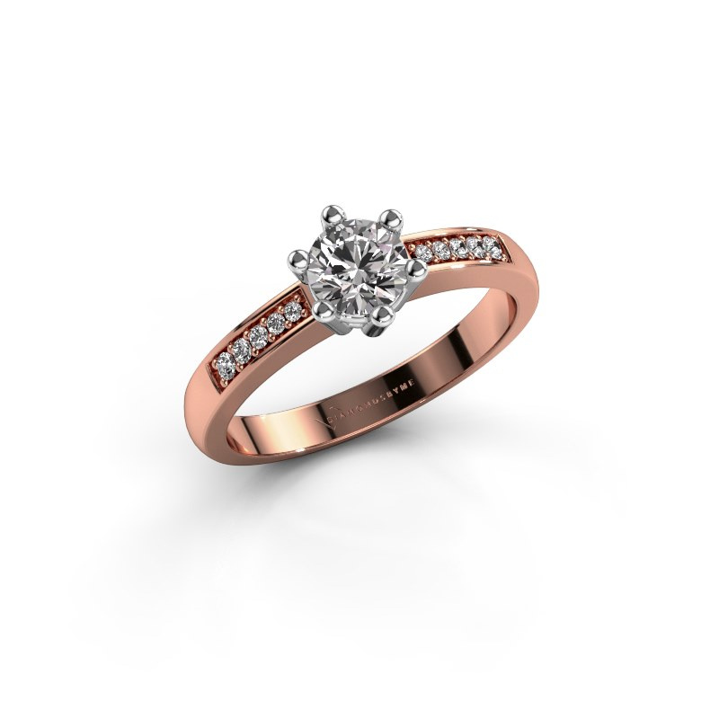 Verlovingsring Luna 2 585 rosé goud diamant 0.40 crt