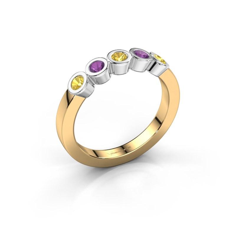 Ring Nova 585 gold yellow sapphire 3 mm