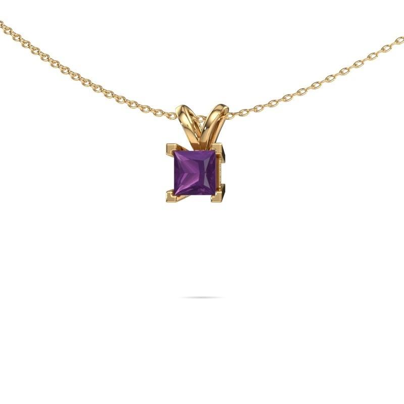 Hanger Ariane 585 goud amethist 5 mm