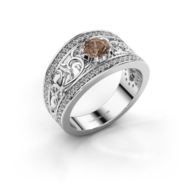 Ring Marilee 950 platina bruine diamant 0.956 crt