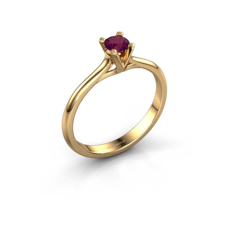 Verlovingsring Isa 1 585 goud rhodoliet 4 mm