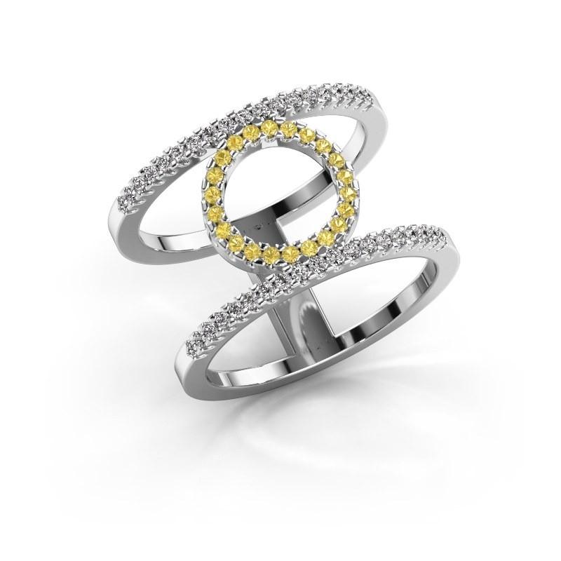 Ring Latoria 2 950 Platin Gelb Saphir 1.1 mm