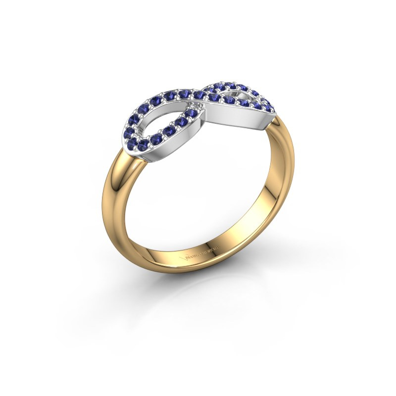 Ring Infinity 2 585 goud saffier 1.2 mm