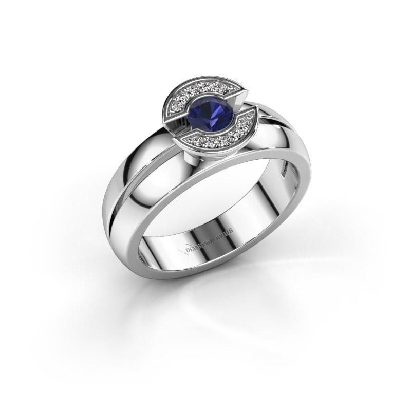 Ring Jeanet 1 925 zilver saffier 4 mm