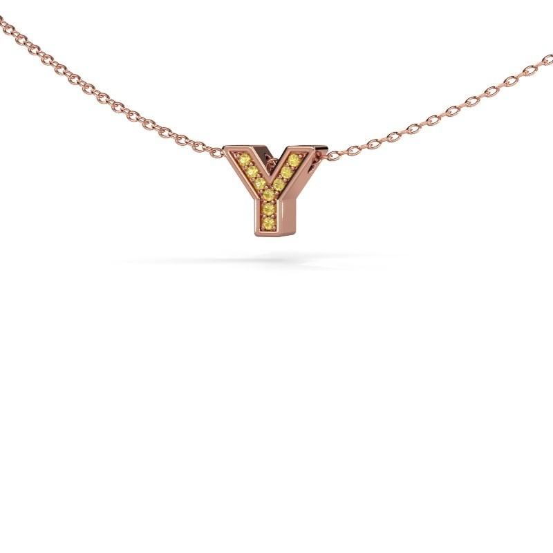 Letter hanger Initial 140 375 rosé goud