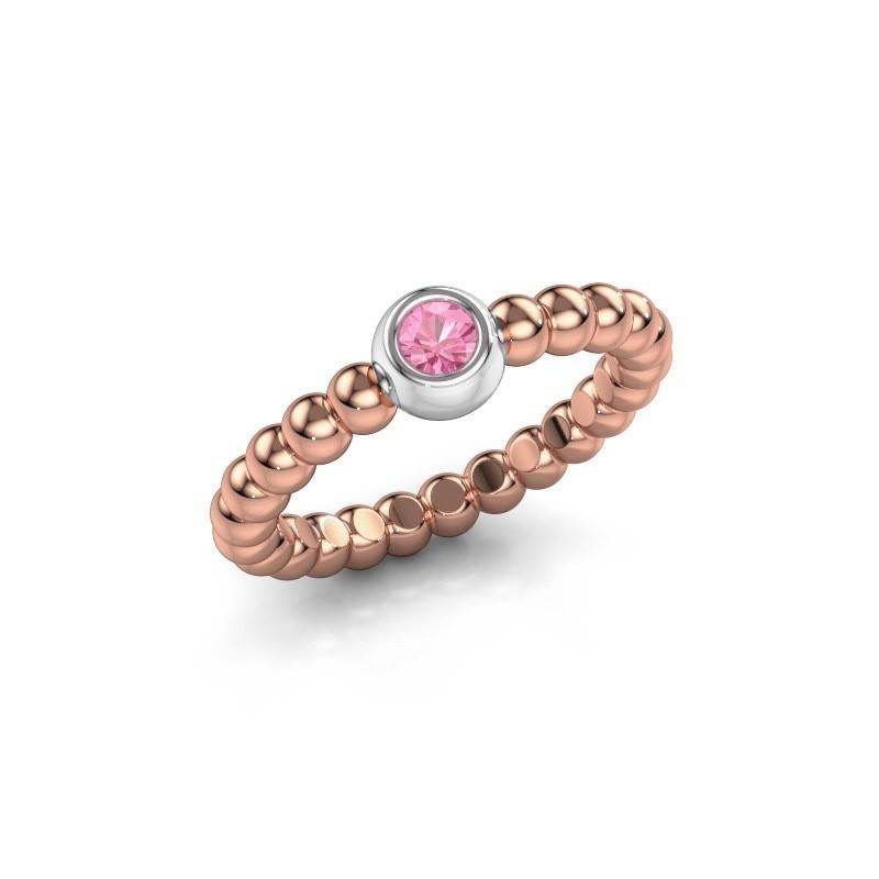 Vorsteckring Dini 585 Roségold Pink Saphir 3 mm