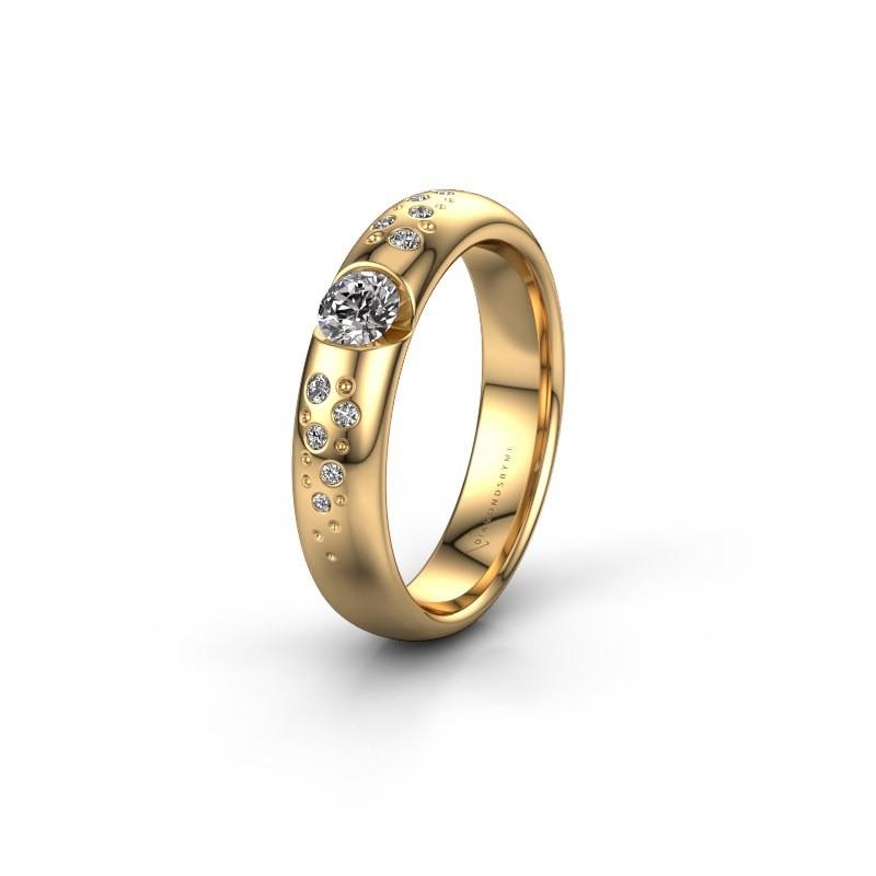 Trouwring WH2104L34A 375 goud diamant ±4,5x1.7 mm