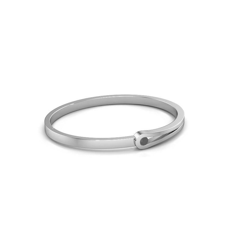 Bangle Kiki 950 platinum black diamond 0.30 crt
