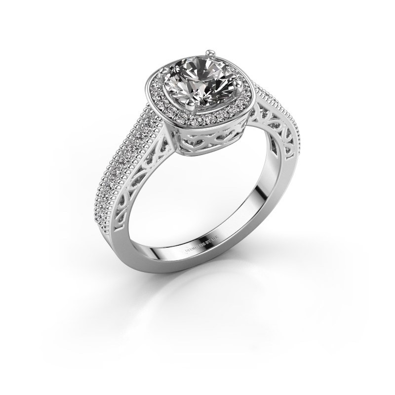 Engagement ring Candi 925 silver diamond 1.309 crt