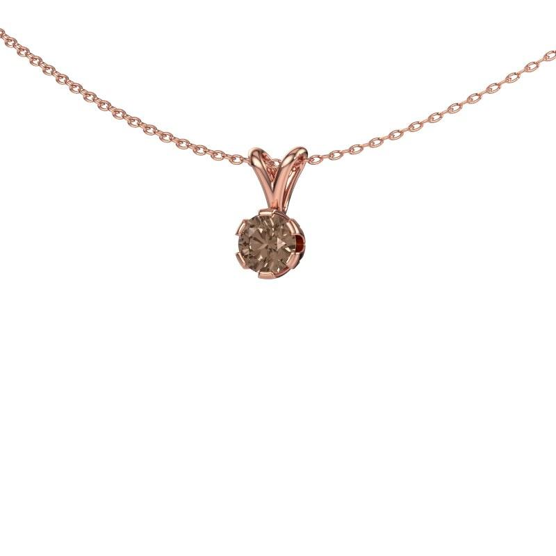 Ketting Julia 375 rosé goud bruine diamant 0.50 crt