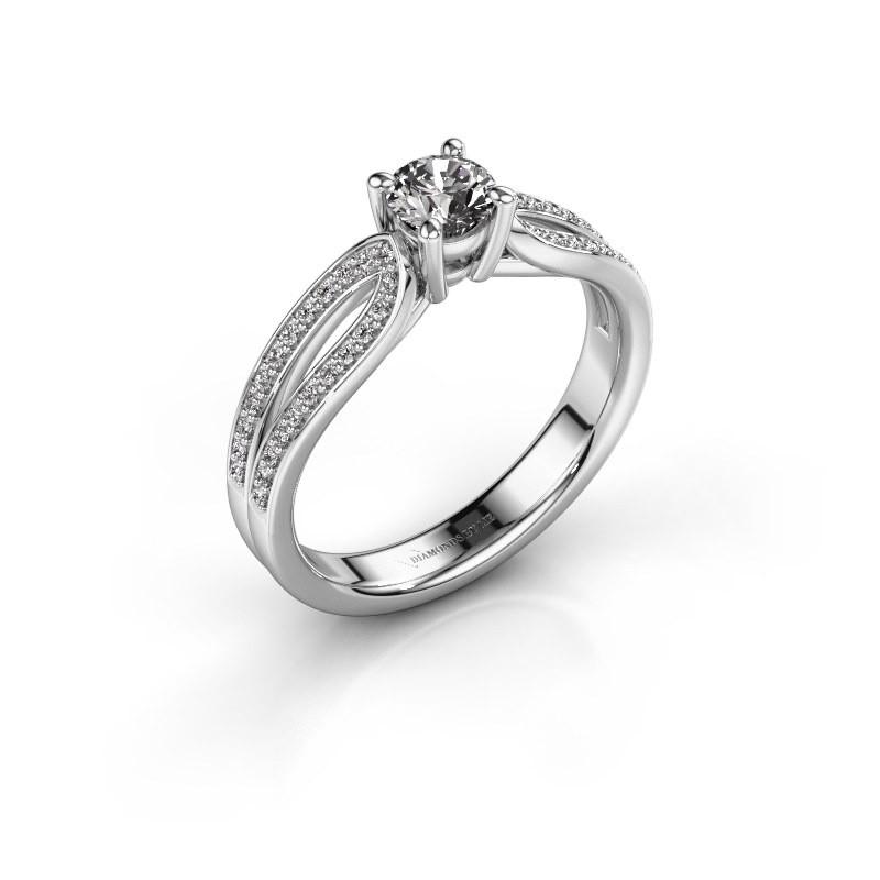 Bague de fiançailles Antonia 2 585 or blanc diamant 0.63 crt