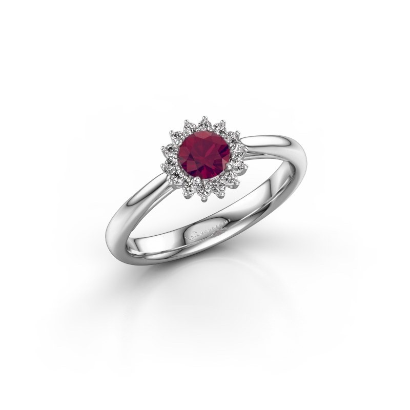 Engagement ring Tilly RND 1 925 silver rhodolite 4.2 mm