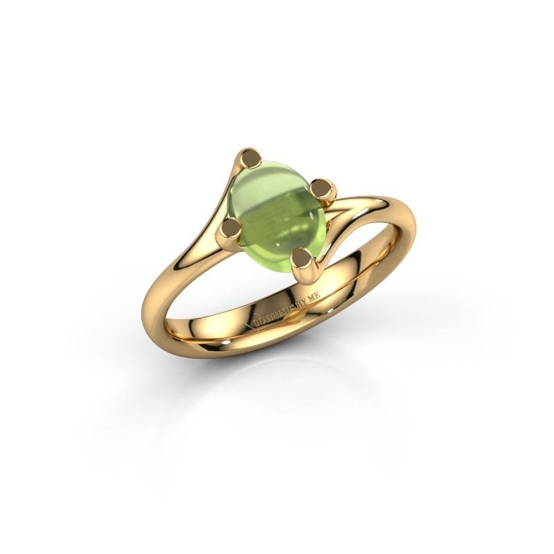 Ring Nora 585 goud peridoot 8x6 mm