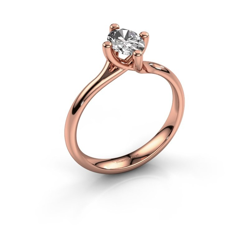 Verlobungsring Dewi Oval 585 Roségold Lab-grown Diamant 0.70 crt